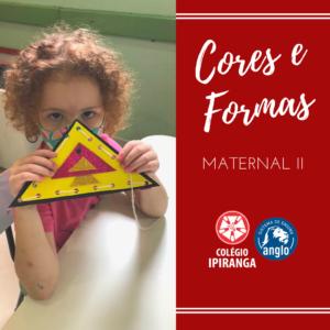 Maternal II em contato com as cores e formas