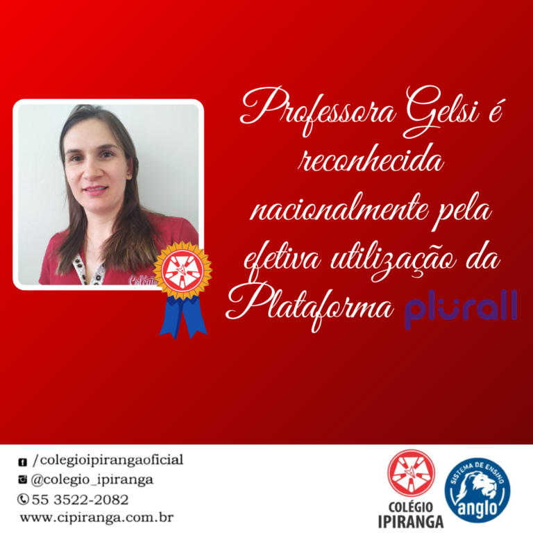 Professora Gelsi também é destaque nacional no uso da Plataforma Plural