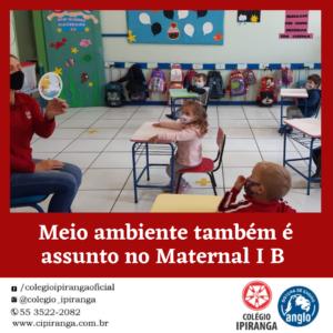 Meio ambiente também é assunto no Maternal I B do Ipiranga