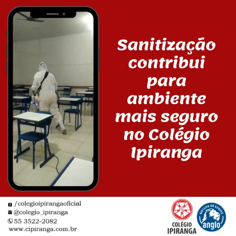 Sanitização contribui para ambiente mais seguro no Ipiranga