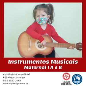 Alunos do Maternal conheceram instrumentos musicais