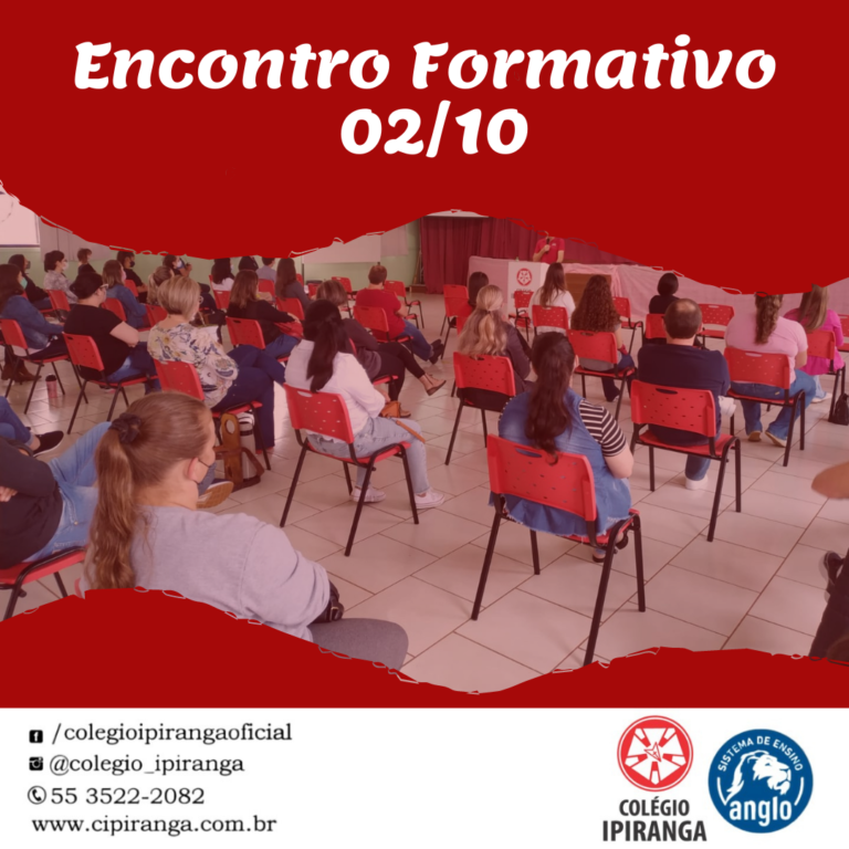 Encontro formativo reuniu professores e colaboradores do Colégio Ipiranga